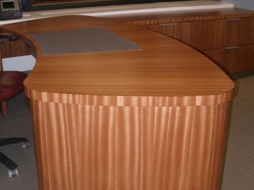 Curved Sapele Desk