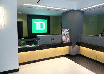 custom corner teller line bank