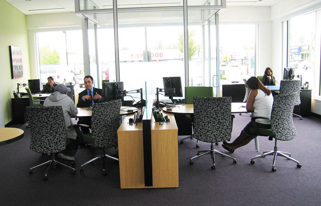 Bank Customer Rep Desk