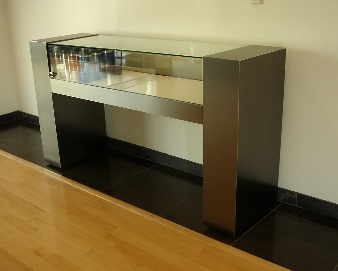 Metal and Glass Counter