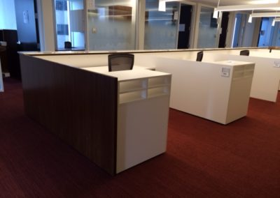 Attorney Admin Stations in laminate, lacquer, walnut and stone