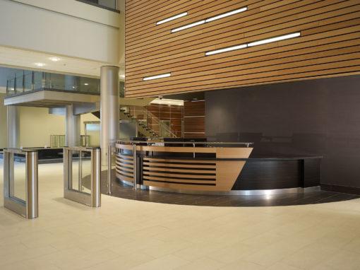 Reception Station in Beech & Ebonized Wood