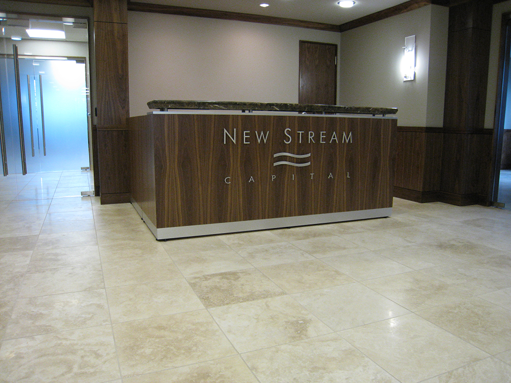 Walnut Reception Desk