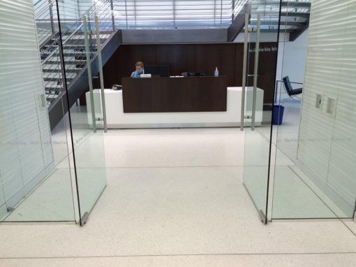 Corian and Walnut Reception Desk
