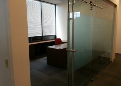 glass walls with sliders