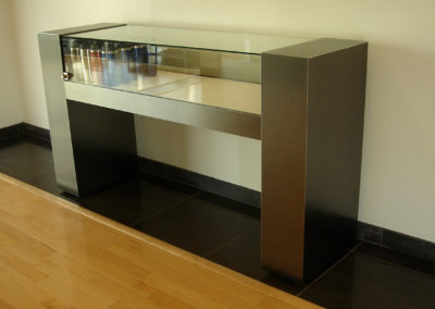 metal and glass display counter