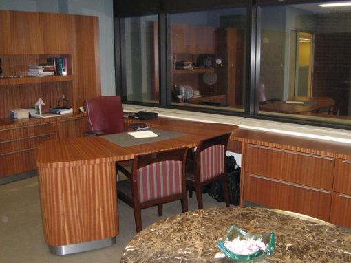 Sapele Mahogany Private Office
